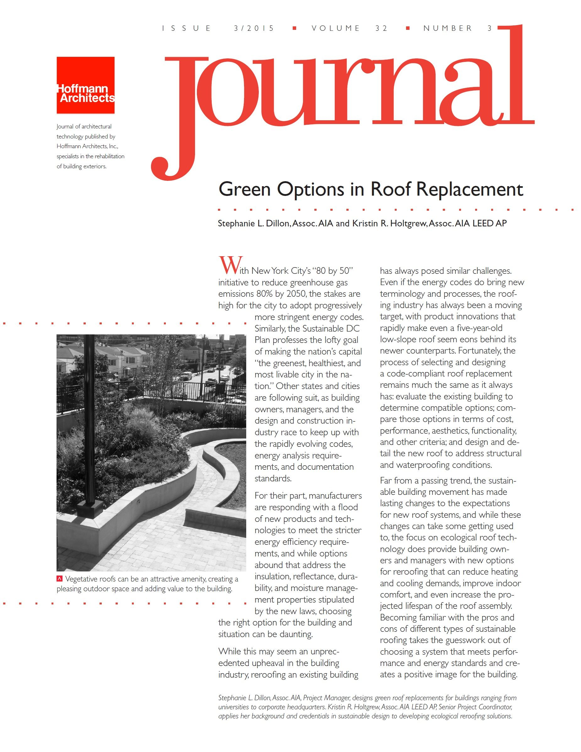 Green Options In Roof Replacement Architects Journal Sustainable Design Cool Roof