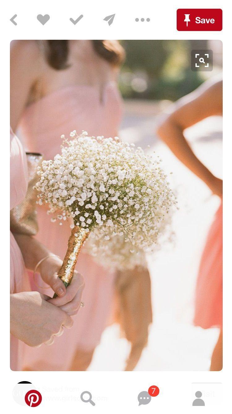 Easy diy flowers for bridesmaids babys breath bouquet