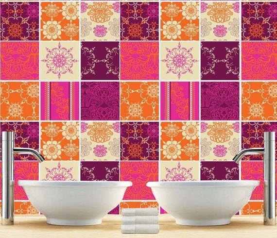 kitchen splashback - indian patchwork - tiles stickers - tiles