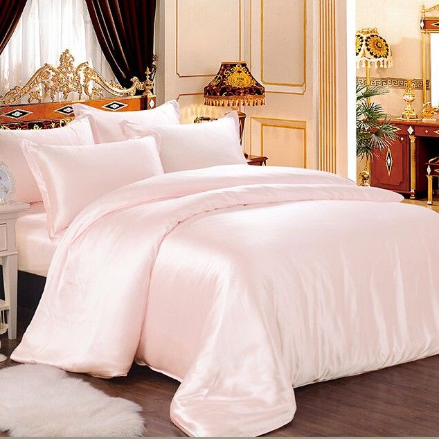 Light Pink Silk Bed Linen Luxury Bed Sheets Bed Linens Luxury