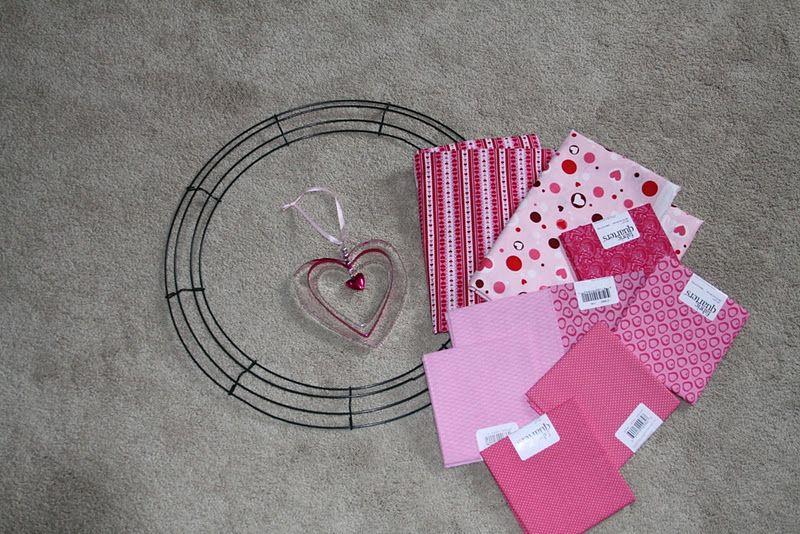 Photo of Valentine's Day Fabric Wreath