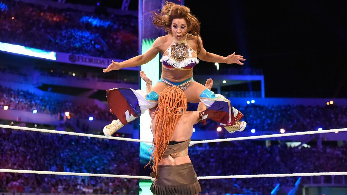 Micky James Xxx Cool wrestlemania 33: smackdown women's championship six pack challenge