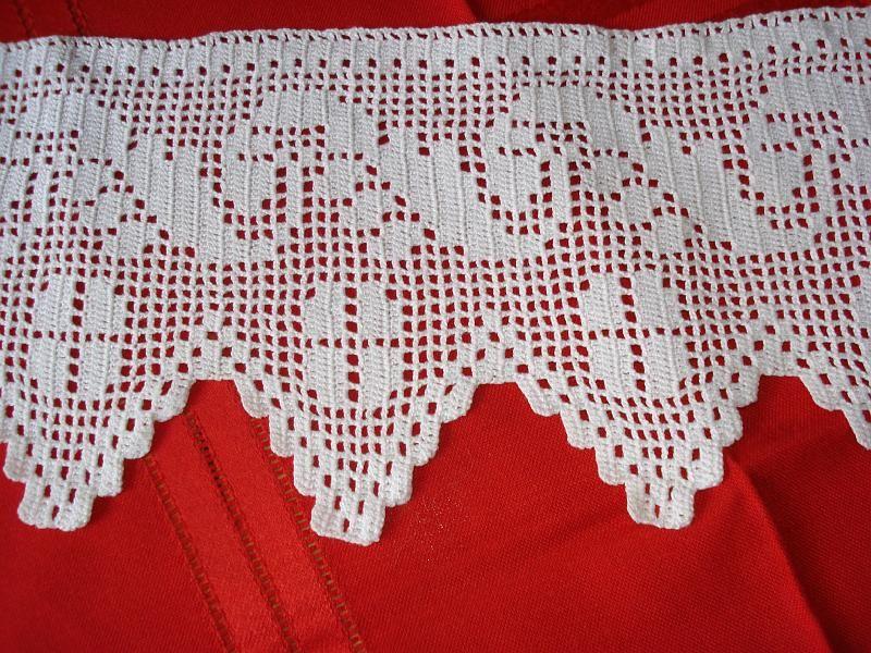 Detalle puntillas para juego de toallas n 3 mantel - Puntillas para cortinas ...