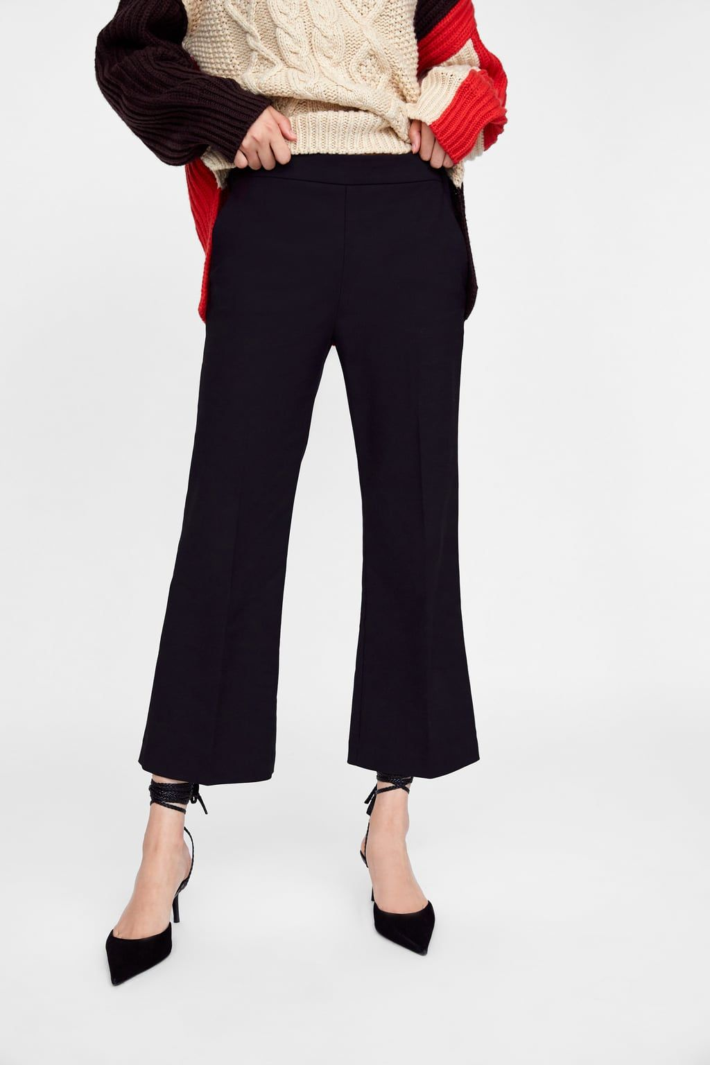 c0186312 Image 2 of CROPPED FLARE PANTS from Zara | Work Wardrobe | Cropped ...