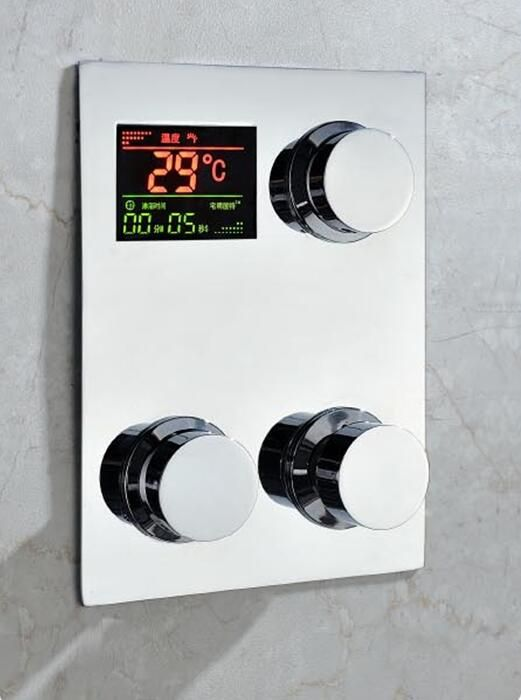 Thermostatic shower faucet, Temparature Display.Digital inwall ...