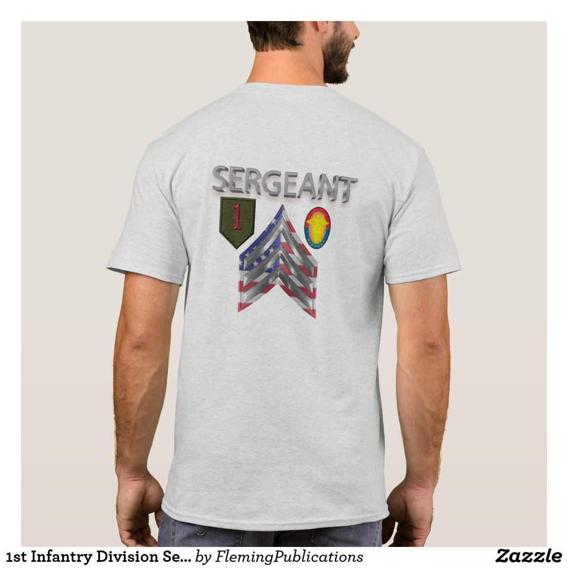 1st infantry division sergeant tshirt in