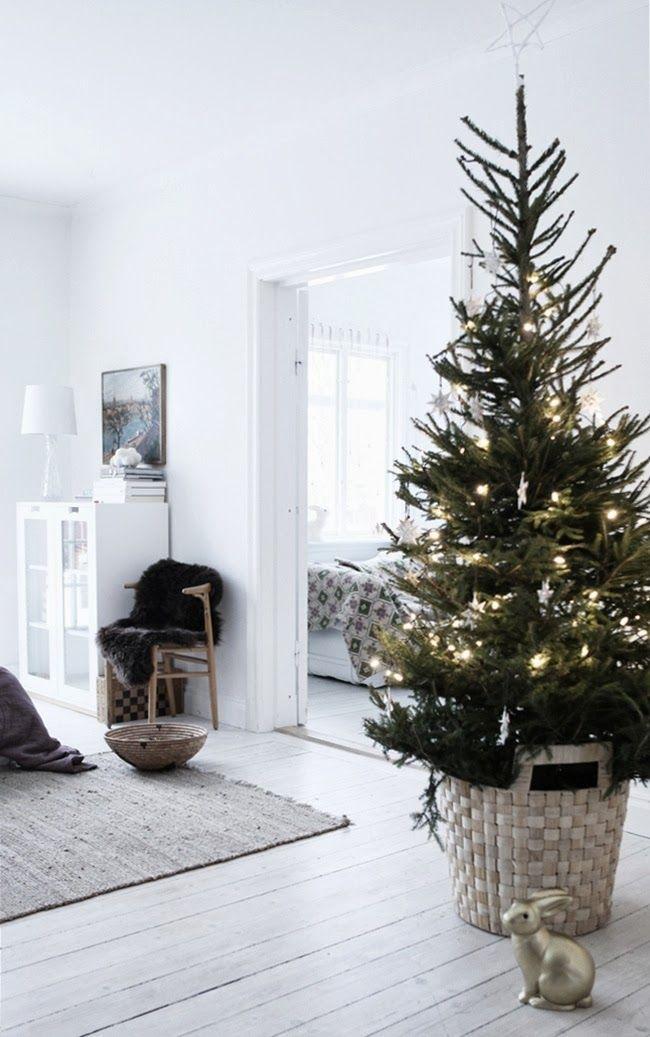 christmas tree simple minimalist christmas tree simple tree christmas tree basket scandi