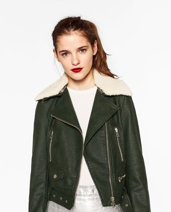 Cazadora Efecto Piel New In Pinterest Jackets Faux Leather