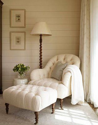 Tufted Chair and Ottoman / reading chair for my master bedroom-love it!