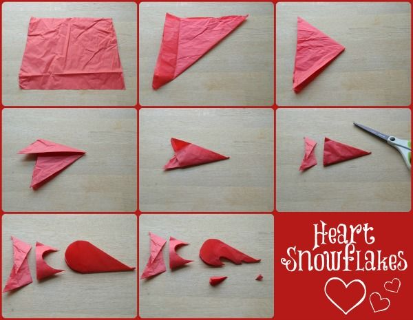 How To Make Heart Snowflakes Red Ted Art S Blog Kindergarten Valentines Valentine Crafts For Kids Toddler Arts And Crafts