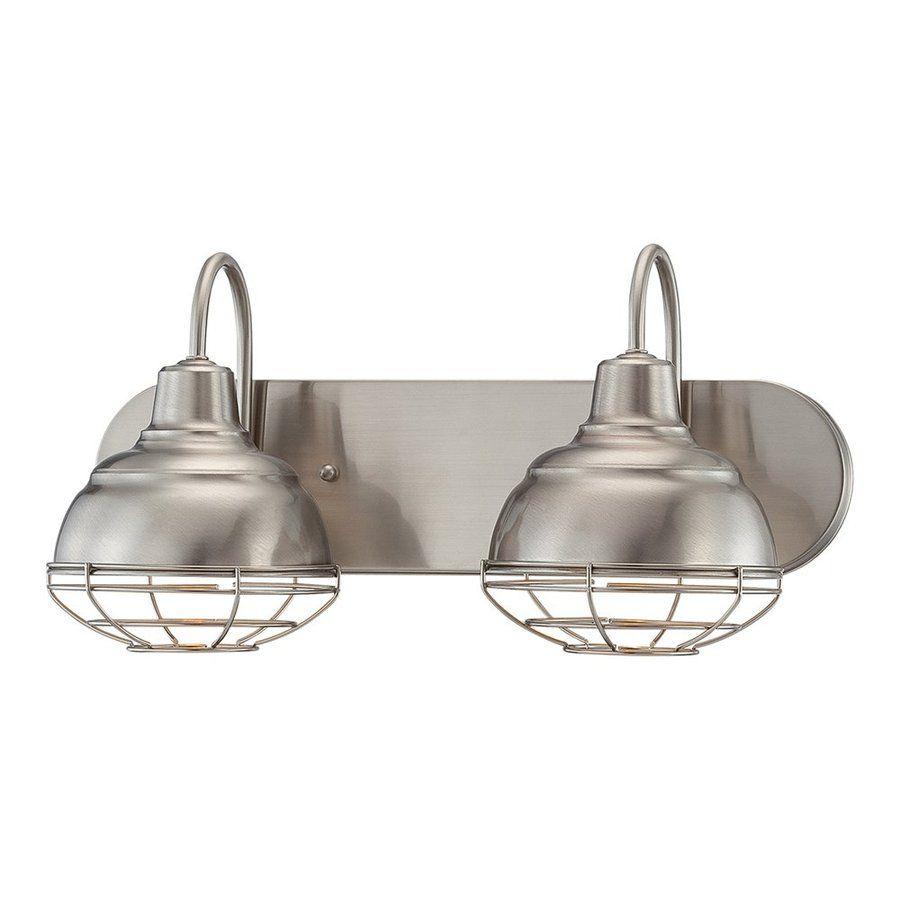 Millennium Lighting 2-Light Neo-Industrial Satin Nickel Standard ...