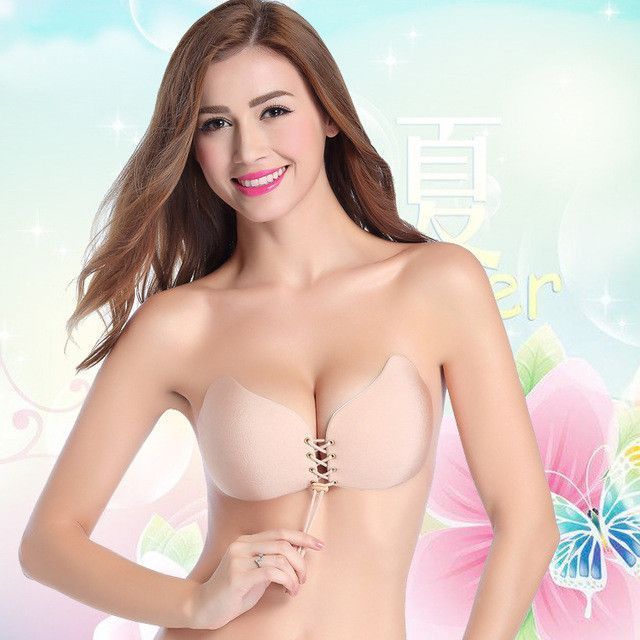 f922d6b806 Super Push Up Women Bra For Small Breast Young Girls Push Up Bras Set Woman  Adhesive With Tie Rope Best Choose For Full Dress