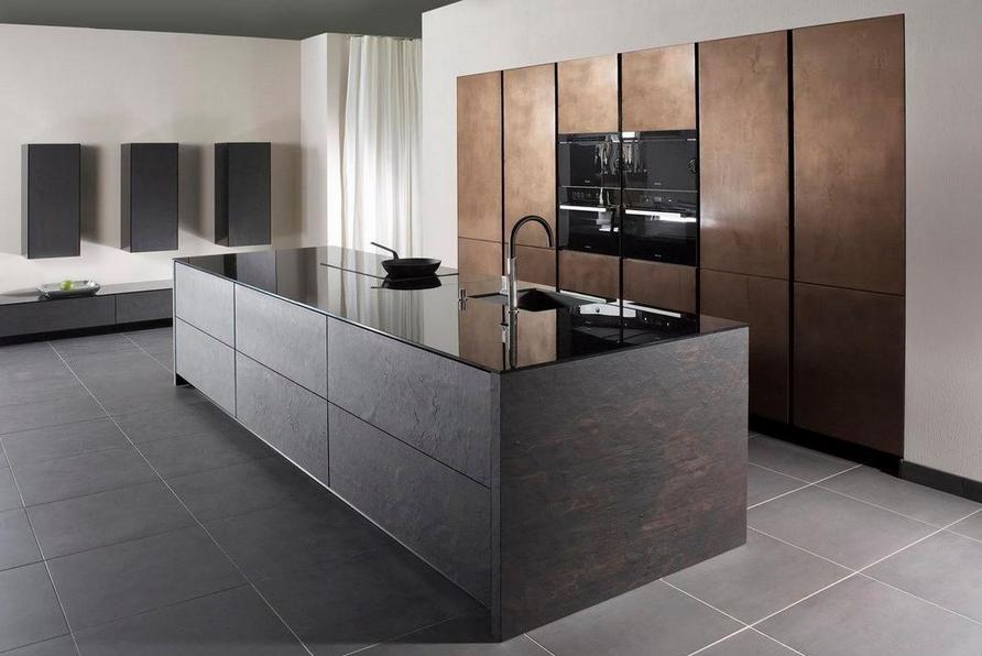 Schiefer Messing Keuken Ontwerp Modern Keukenontwerp Ideeen Voor Thuisdecoratie