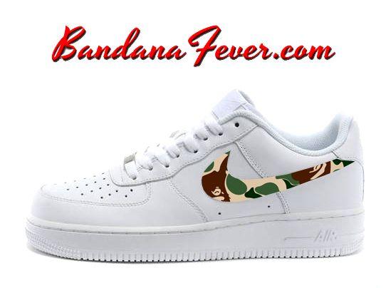 Bandana Fever | Custom Nike Shoes, Custom Converse Shoes, Custom Socks. Air  Force ...