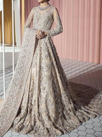 Material Polyester Silhouette Expansion Dress Length Floor Length Sleeve Length Long Sleeve S Asian Bridal Dresses Asian Wedding Dress Desi Wedding Dresses