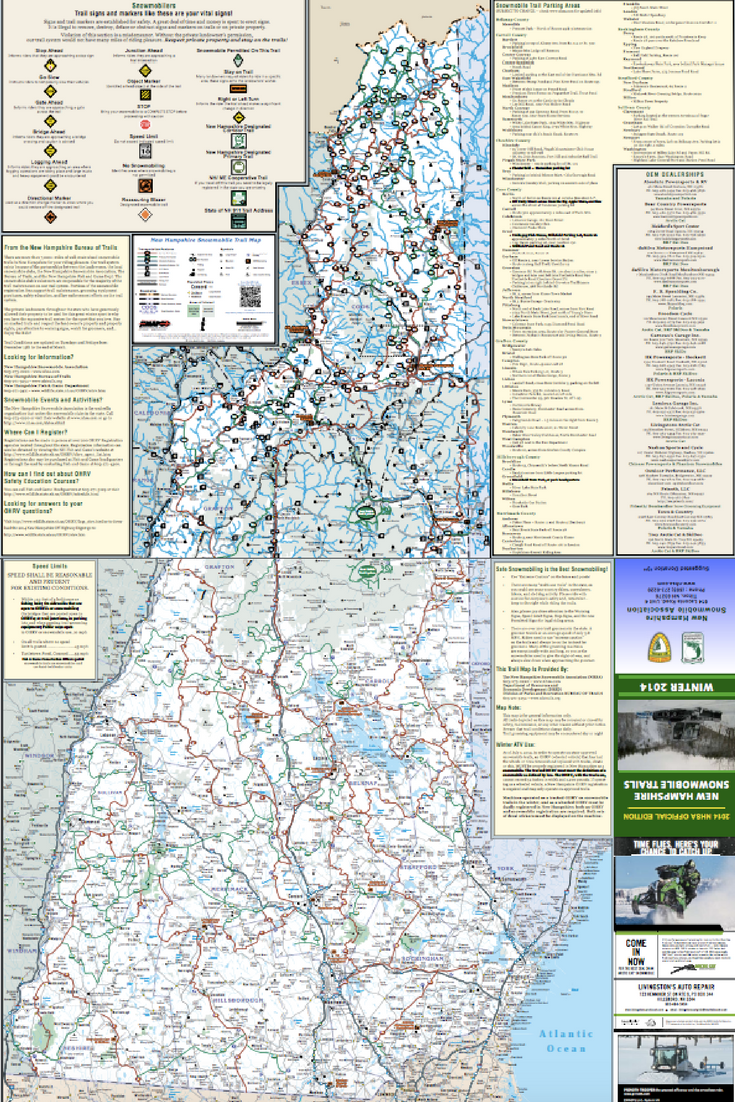 If you're more of an old-fashioned map person, check out this NH snowmobile corridor map!