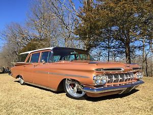1959 Chevrolet Impala Brookwood 348 4 Speed Ebay Chevrolet Impala Station Wagon Cars Impala