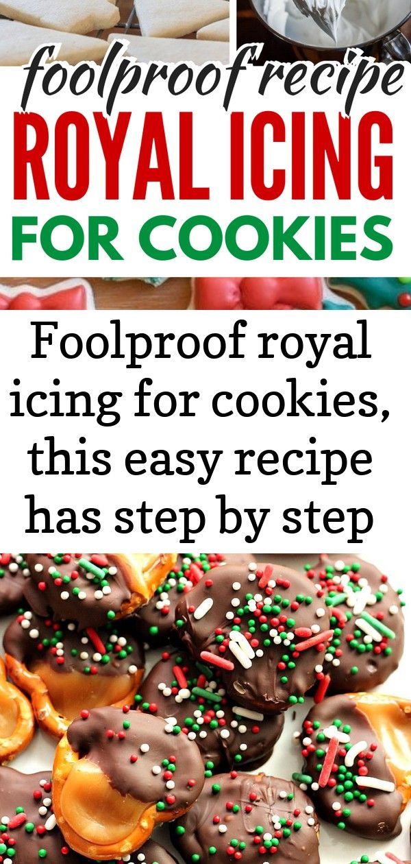 Foolproof royal icing for cookies, this easy recipe has step by step directions and is perfect for c #easyroyalicingrecipe
