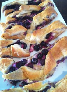 DELICIOUS Blueberry Cheesecake Braid!! Soooo easy!!!  We loved this!