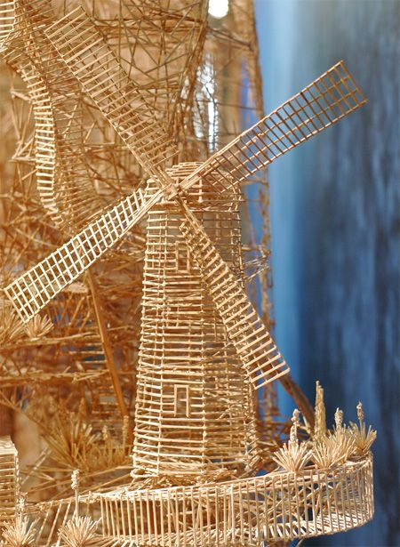 San Francisco Made Of Toothpicks Toothpick Sculpture Kinetic Sculpture Match Stick Art
