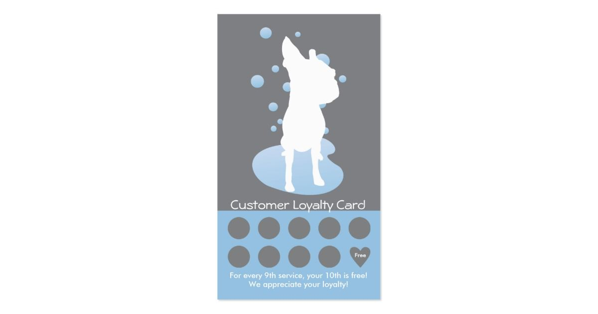 Dog Grooming Business Card Loyalty Card | Loyalty cards, Grooming ...