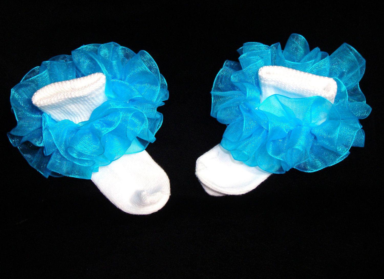 Little Miss Caribbean Blue Turquoise Aqua Organza Newborn Infant ...