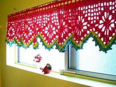 Creativos dise os de cortinas en crochet cortinas - Puntillas para cortinas ...