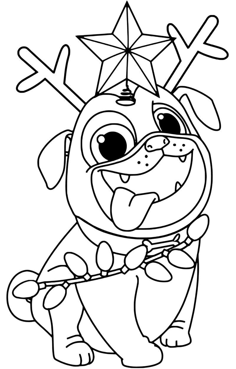 Puppy Wearing Christmas Hat Coloring Pages Puppy Coloring Pages Dog Coloring Page Cute Coloring Pages