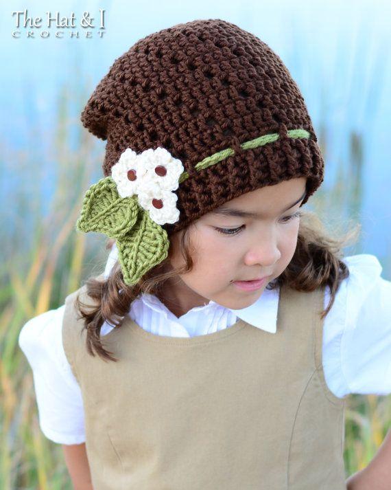 CROCHET PATTERN - Little Blooms Slouchy - a slouchy hat pattern ...