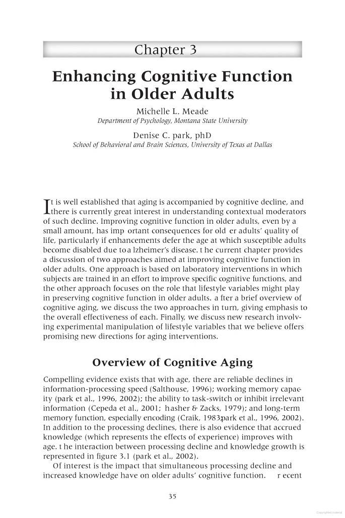 Enhancing Cognitive Functioning and Brain Plasticity - Wojtek Chodzko-Zajko, Arthur Kramer, Leonard Poon - Google Books