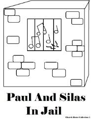 Paul And Silas Coloring Pages In Jail Prison Acts 1625