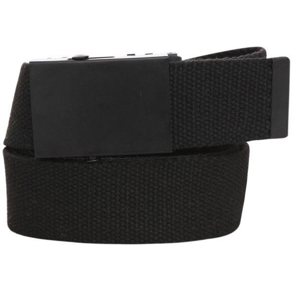 be1bebd7841 Solid Black Web Belt