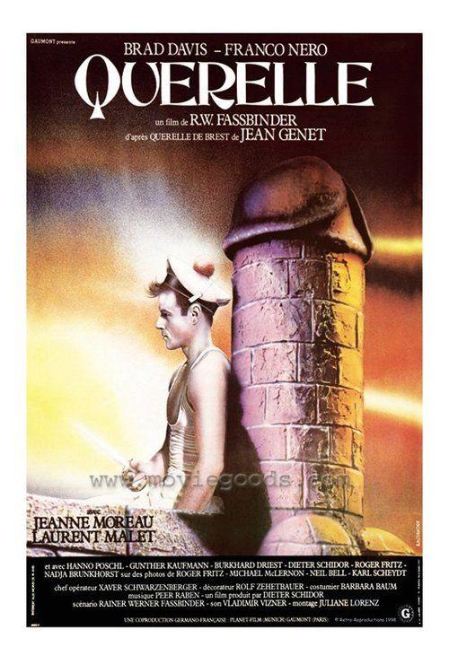 Movie Cinema Poster Art Franco Nero Jeanne Moreau QUERELLE 1982 Brad Davis