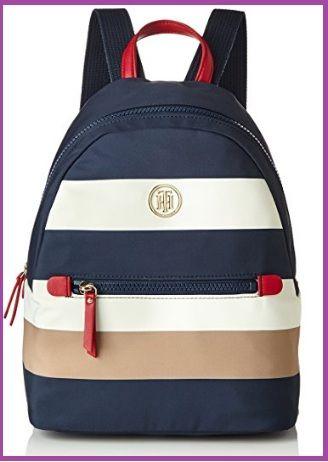 92636472059 Tommy Hilfiger Modern Nylon Bolsa para Mujer Multicolor  es un bello morral  con un diseño