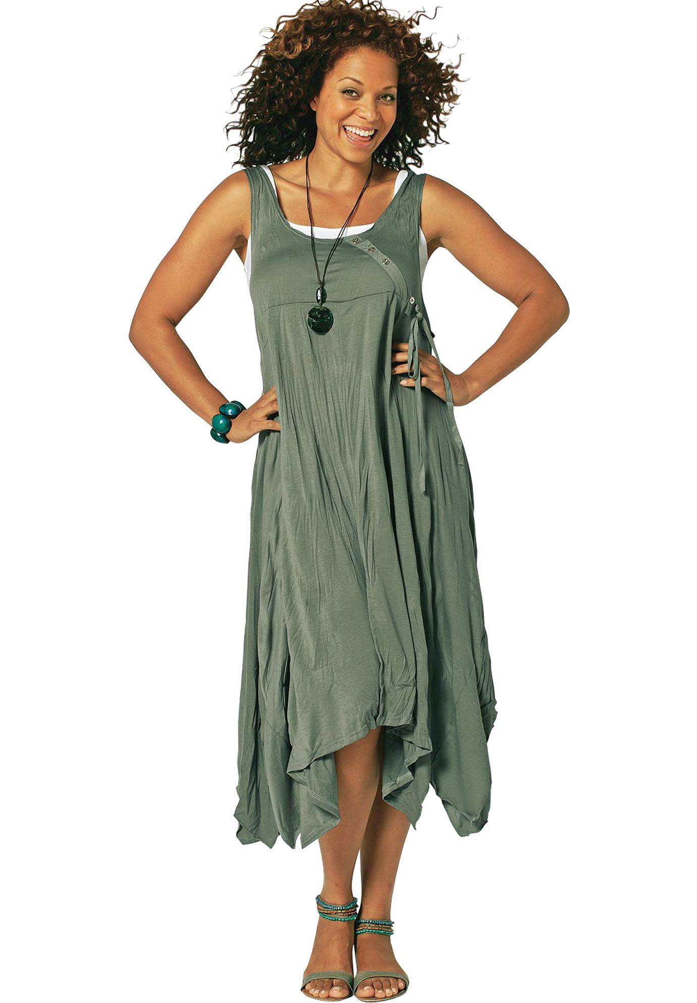 Sleeveless Empire Aysmmetrical Hem Dress by Taillissime®