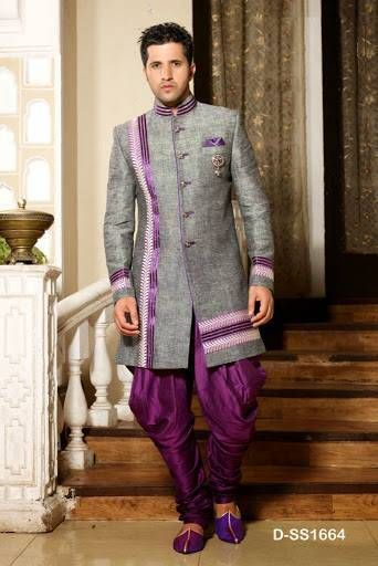 Indian Stylish Groom Garb Sequence 2015 For Wedding