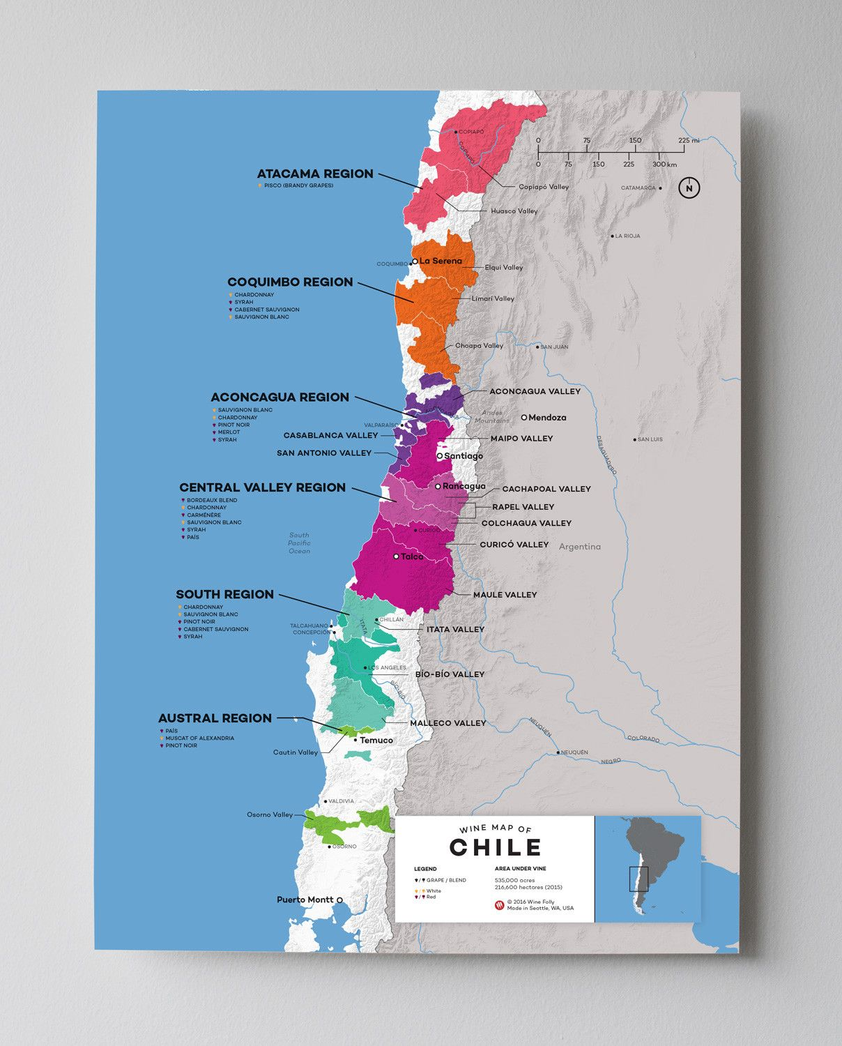 Chile Wine Map Chile Wine And Regional - Map of chile with cities