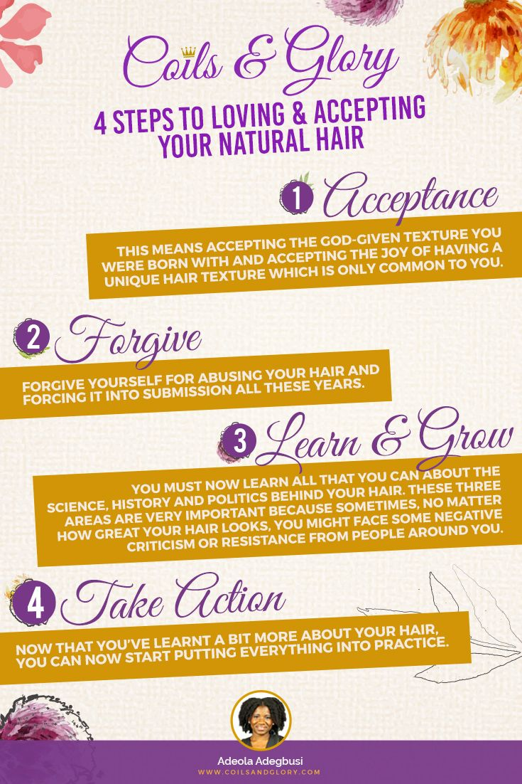 Loving and accepting oneus natural hair texture is not always an