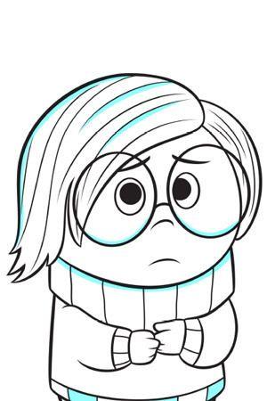 Sadness Colouring Page Dibujos De Personajes De Disney Dibujos