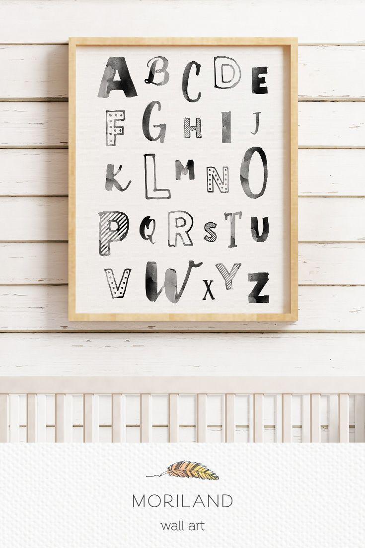 Alphabet Wall Art Print Abc