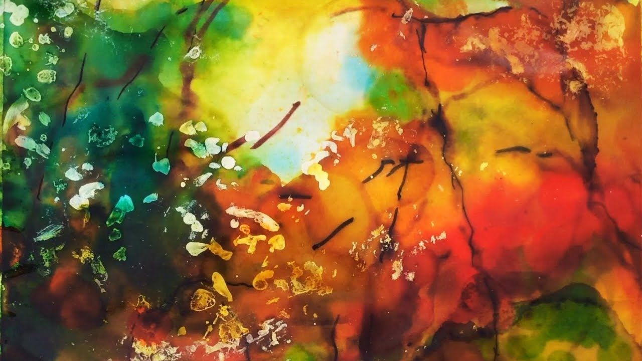 An impressionistic autumn forest alcohol ink tutorial how to paint an impressionistic autumn forest alcohol ink tutorial how to paint step baditri Images