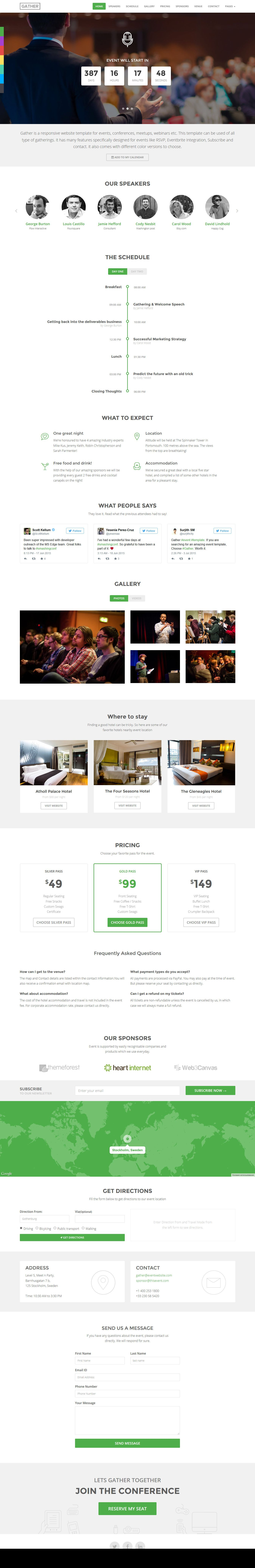Event Conference Landing Page Template - Gather #website #webdesign ...