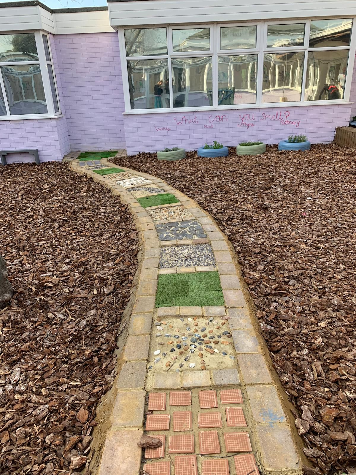 Sensory path | Sensory garden, School garden, Paths