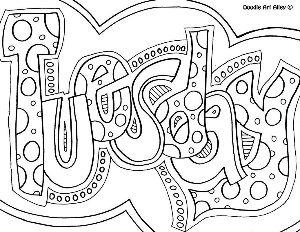 Tuesday Jpg Coloring Pages Adult Coloring Pages Coloring Pages