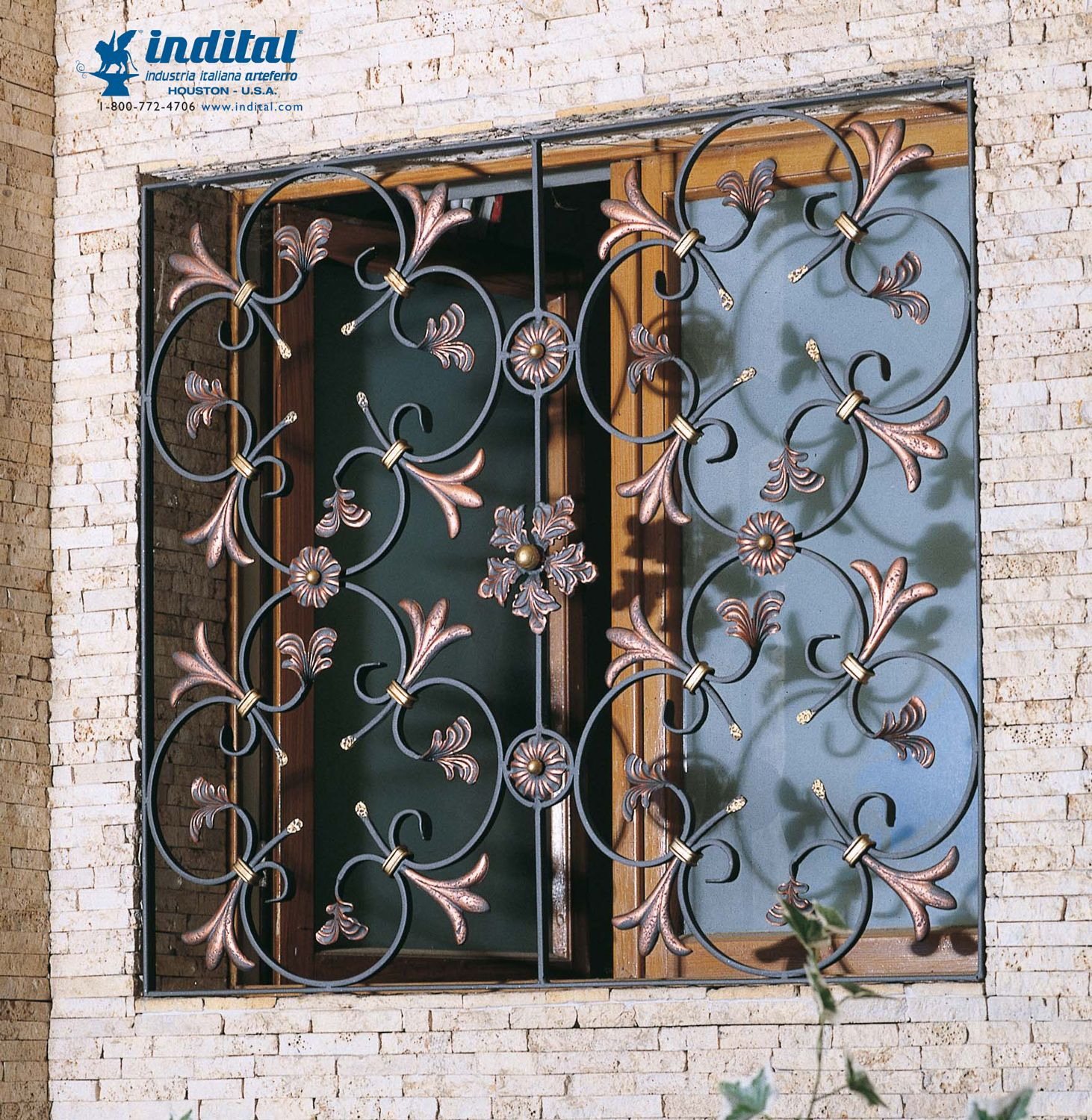For Security That Makes A Stylish Statement Wrought Iron Window