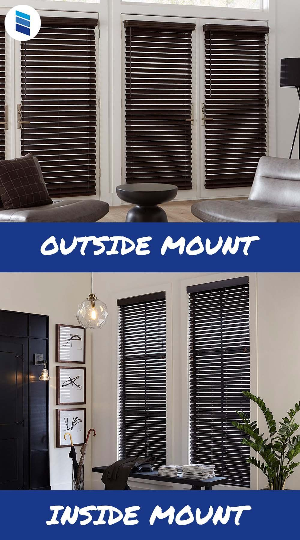 Everything You Need To Know About Outside Mount Window Treatments Blinds Com In 2020 Window Treatments Window Treatments Living Room Faux Wood Blinds