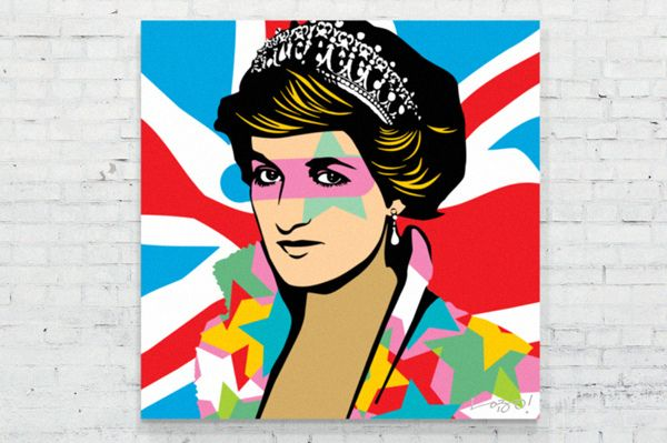 Lady Di Lobo Pop Art Pop Art Painting Modern Pop Art Artist