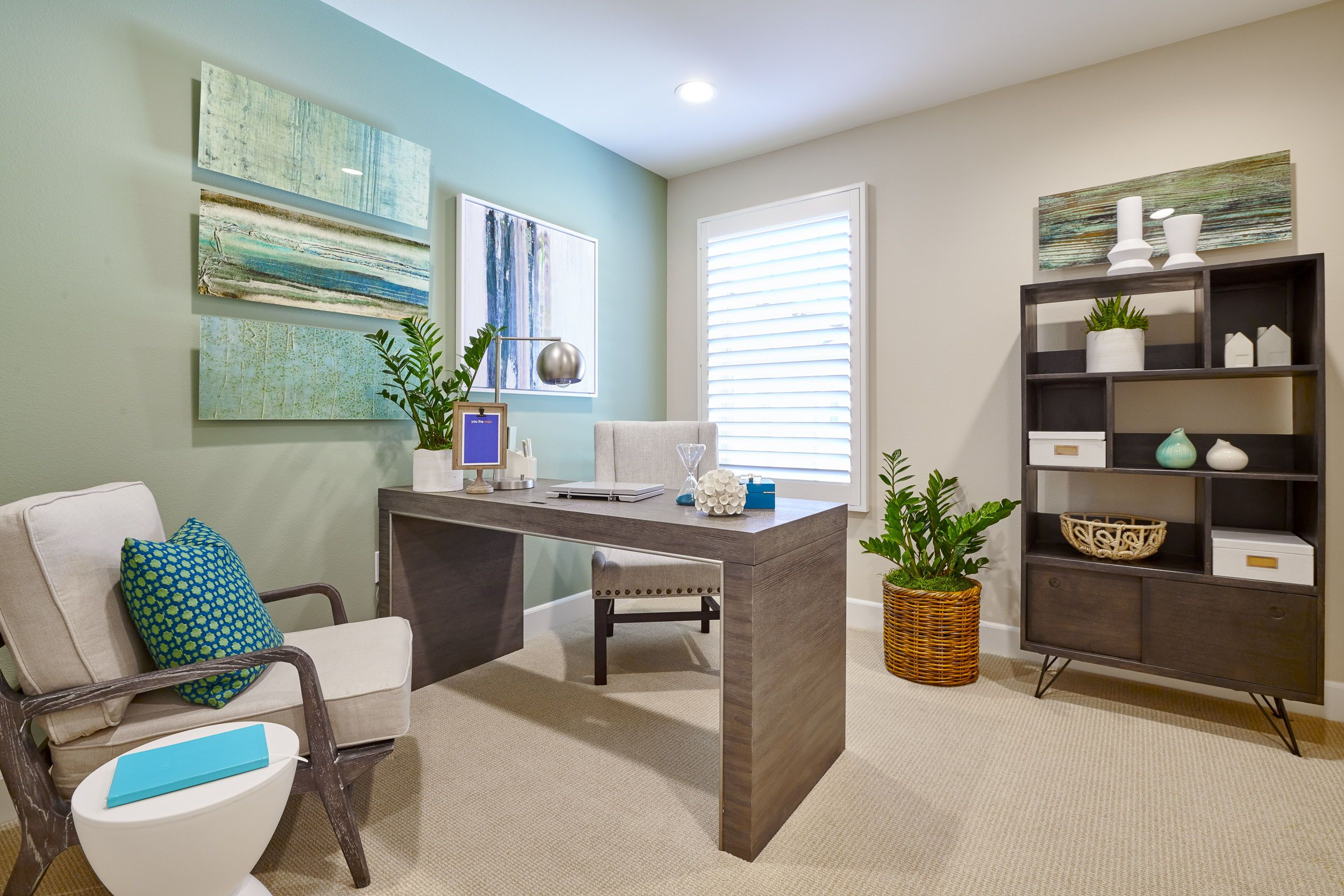 Pretty Calming Wall Color I Really Like It Home Office