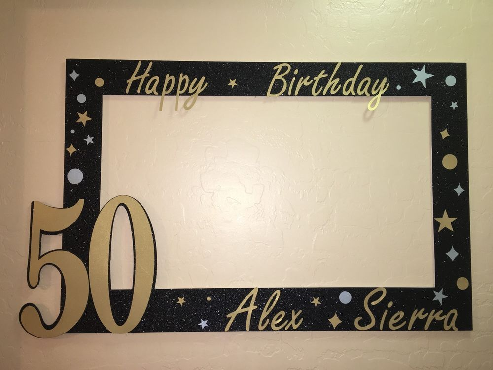 Photo Booth Frame to Take Pictures on Birthday 50 Birthday Frame