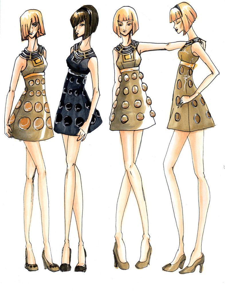Dalek dress designs.  Fashion + doctor who = this